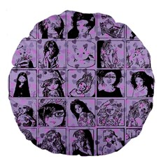 Lilac Yearbook 2 Large 18  Premium Flano Round Cushions