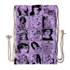 Lilac Yearbook 2 Drawstring Bag (large)