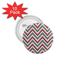 Chevron Blue Pink 1 75  Buttons (10 Pack)