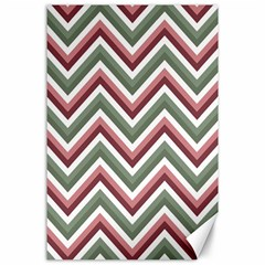 Chevron Blue Pink Canvas 24  X 36