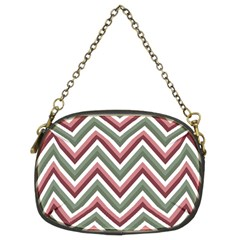 Chevron Blue Pink Chain Purses (two Sides)