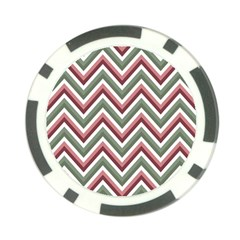 Chevron Blue Pink Poker Chip Card Guard (10 Pack)