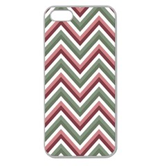 Chevron Blue Pink Apple Seamless Iphone 5 Case (clear)