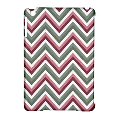 Chevron Blue Pink Apple Ipad Mini Hardshell Case (compatible With Smart Cover)