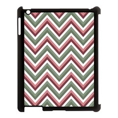 Chevron Blue Pink Apple Ipad 3/4 Case (black)