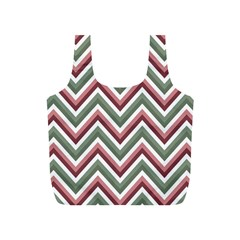 Chevron Blue Pink Full Print Recycle Bags (s)
