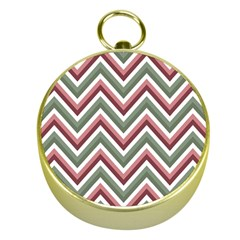 Chevron Blue Pink Gold Compasses