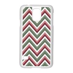 Chevron Blue Pink Samsung Galaxy S5 Case (white)