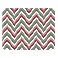 Chevron Blue Pink Double Sided Flano Blanket (large)