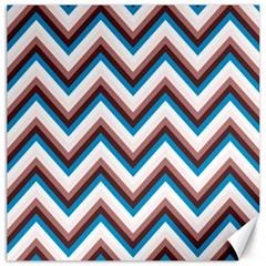 Zigzag Chevron Pattern Blue Magenta Canvas 12  X 12