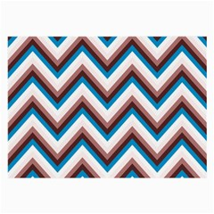 Zigzag Chevron Pattern Blue Magenta Large Glasses Cloth