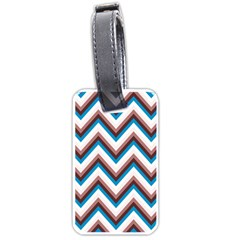 Zigzag Chevron Pattern Blue Magenta Luggage Tags (one Side)