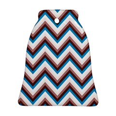 Zigzag Chevron Pattern Blue Magenta Bell Ornament (two Sides)