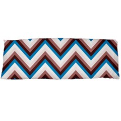 Zigzag Chevron Pattern Blue Magenta Body Pillow Case (dakimakura)