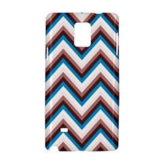 Zigzag Chevron Pattern Blue Magenta Samsung Galaxy Note 4 Hardshell Case