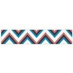 Zigzag Chevron Pattern Blue Magenta Small Flano Scarf Front