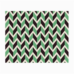 Zigzag Chevron Pattern Green Black Small Glasses Cloth
