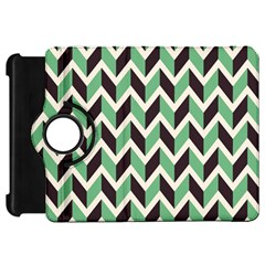 Zigzag Chevron Pattern Green Black Kindle Fire Hd 7