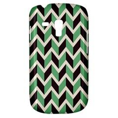 Zigzag Chevron Pattern Green Black Galaxy S3 Mini