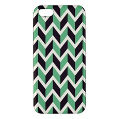 Zigzag Chevron Pattern Green Black Iphone 5s/ Se Premium Hardshell Case