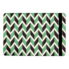 Zigzag Chevron Pattern Green Black Samsung Galaxy Tab Pro 10 1  Flip Case