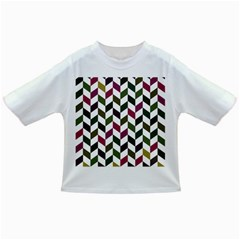 Zigzag Chevron Pattern Green Purple Infant/toddler T Shirts