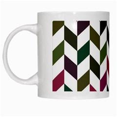 Zigzag Chevron Pattern Green Purple White Mugs