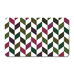 Zigzag Chevron Pattern Green Purple Magnet (rectangular)