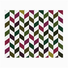 Zigzag Chevron Pattern Green Purple Small Glasses Cloth (2 Side)