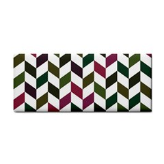 Zigzag Chevron Pattern Green Purple Cosmetic Storage Cases