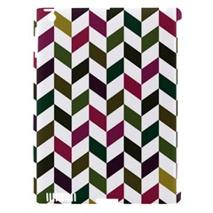 Zigzag Chevron Pattern Green Purple Apple Ipad 3/4 Hardshell Case (compatible With Smart Cover)