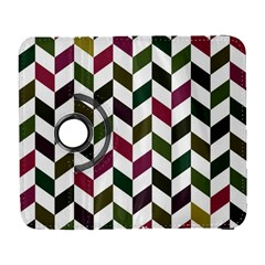 Zigzag Chevron Pattern Green Purple Galaxy S3 (flip/folio)