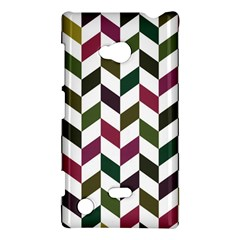 Zigzag Chevron Pattern Green Purple Nokia Lumia 720