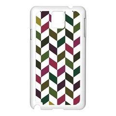 Zigzag Chevron Pattern Green Purple Samsung Galaxy Note 3 N9005 Case (white)