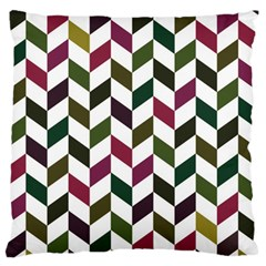 Zigzag Chevron Pattern Green Purple Standard Flano Cushion Case (one Side)