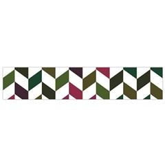Zigzag Chevron Pattern Green Purple Small Flano Scarf