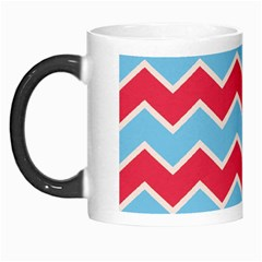 Zigzag Chevron Pattern Blue Red Morph Mugs