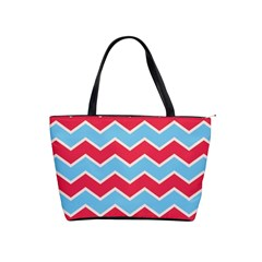 Zigzag Chevron Pattern Blue Red Shoulder Handbags