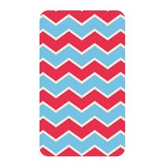 Zigzag Chevron Pattern Blue Red Memory Card Reader
