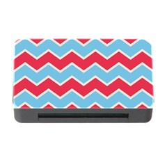 Zigzag Chevron Pattern Blue Red Memory Card Reader With Cf