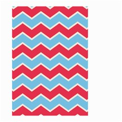 Zigzag Chevron Pattern Blue Red Small Garden Flag (two Sides)