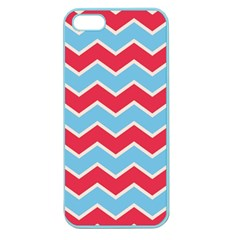 Zigzag Chevron Pattern Blue Red Apple Seamless Iphone 5 Case (color)