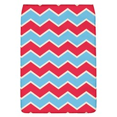 Zigzag Chevron Pattern Blue Red Flap Covers (l)