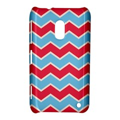 Zigzag Chevron Pattern Blue Red Nokia Lumia 620