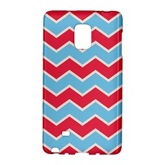 Zigzag Chevron Pattern Blue Red Galaxy Note Edge