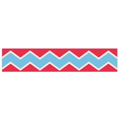 Zigzag Chevron Pattern Blue Red Small Flano Scarf
