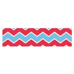 Zigzag Chevron Pattern Blue Red Satin Scarf (oblong)