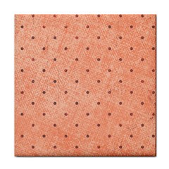 Dot Peach Tile Coasters