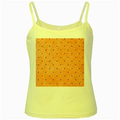 Dot Peach Yellow Spaghetti Tank