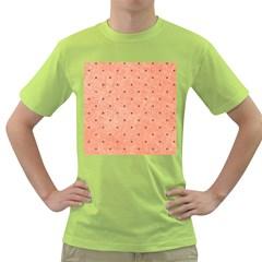 Dot Peach Green T Shirt